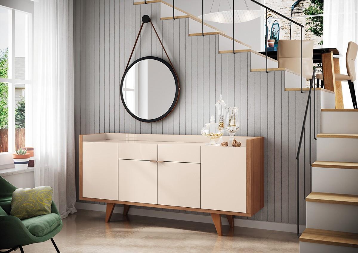 Ambiente Buffet com Espelho Decorativo